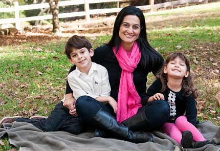 Bita with her son (6) and daughter (4)