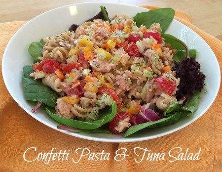 Confetti Pasta Tuna Salad