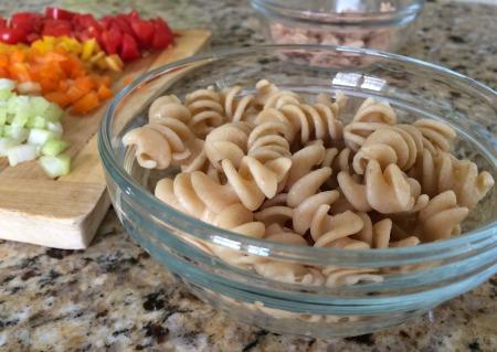 Confetti Pasta Tuna Salad_process