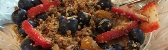 Trail Mix Quinoa Granola {nut-free, dairy-free, gluten-free}