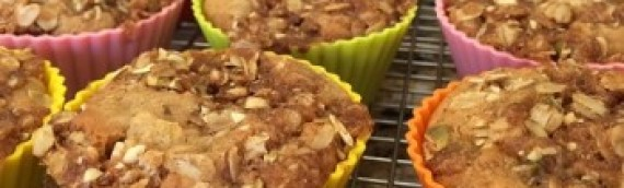 Apple Month + Enjoy Life Cinnamon-Apple Streusel Muffins