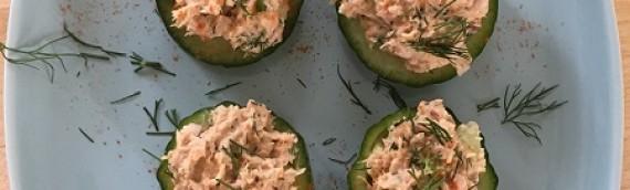 Tuna-Cucumber Cups {Recipe}
