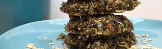 Coconut Carrot Oatmeal Breakfast Cookies
