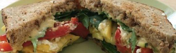 Mediterranean Veggie Sandwich {Recipe}