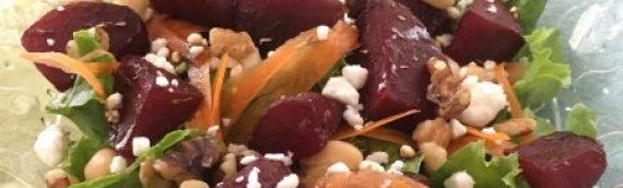 Mediterranean Month: Beet & Garbanzo Salad